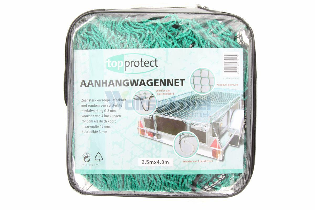 Aanhangwagennet polyetheen groen 2,5x4m