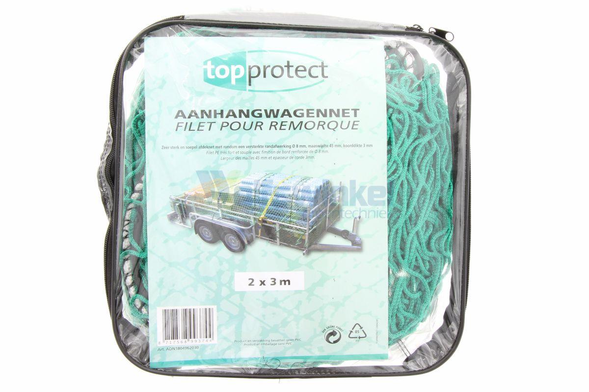 Aanhangwagennet polypropyleen groen 2x3m