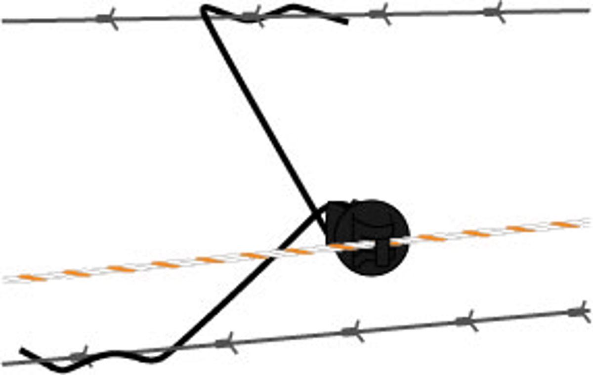 Gallagher afstandisolator 30 cm zwart (