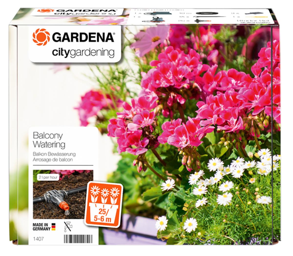 Gardena bloembakbesproeiing automatisch