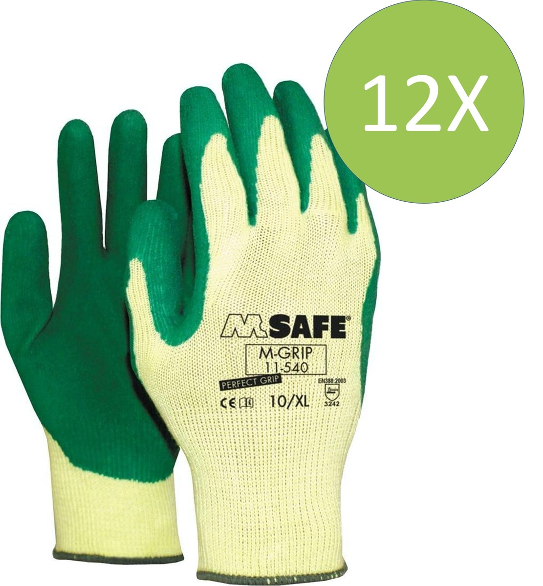 M-grip handschoen 11-540 - 7 - 12 paar