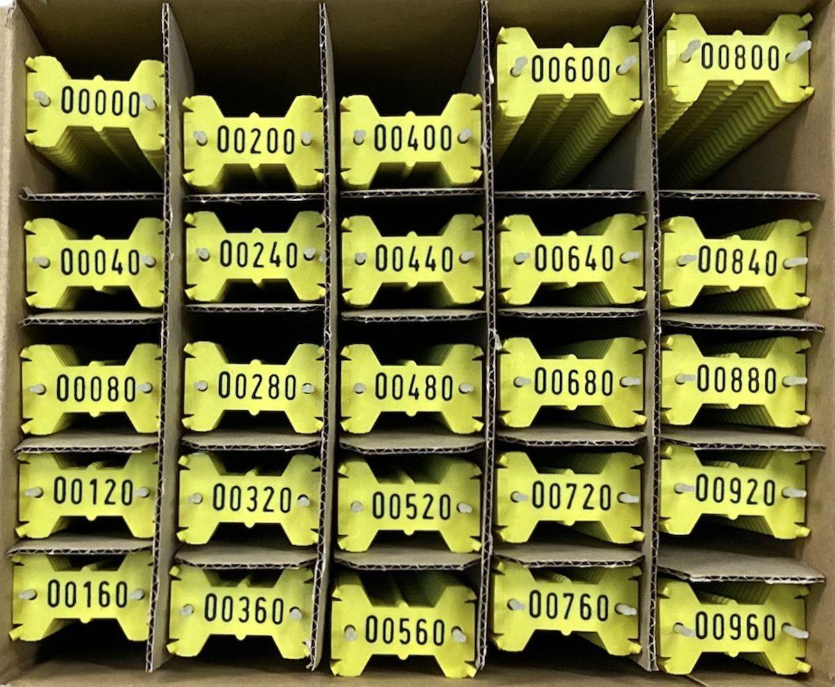 Signumat plaatjes geel zwart 0-999