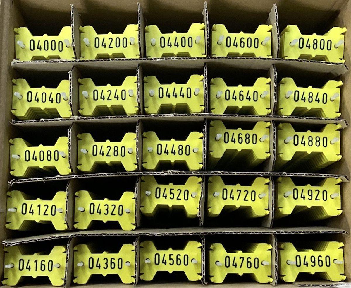 Signumat plaatjes geel zwart 4000-4999