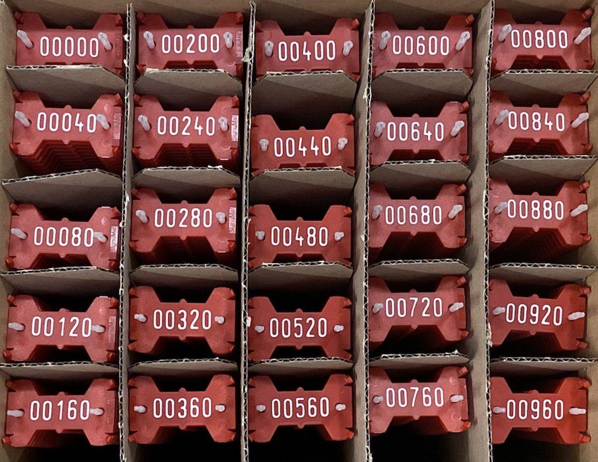 Signumat plaatjes rood wit 0-999