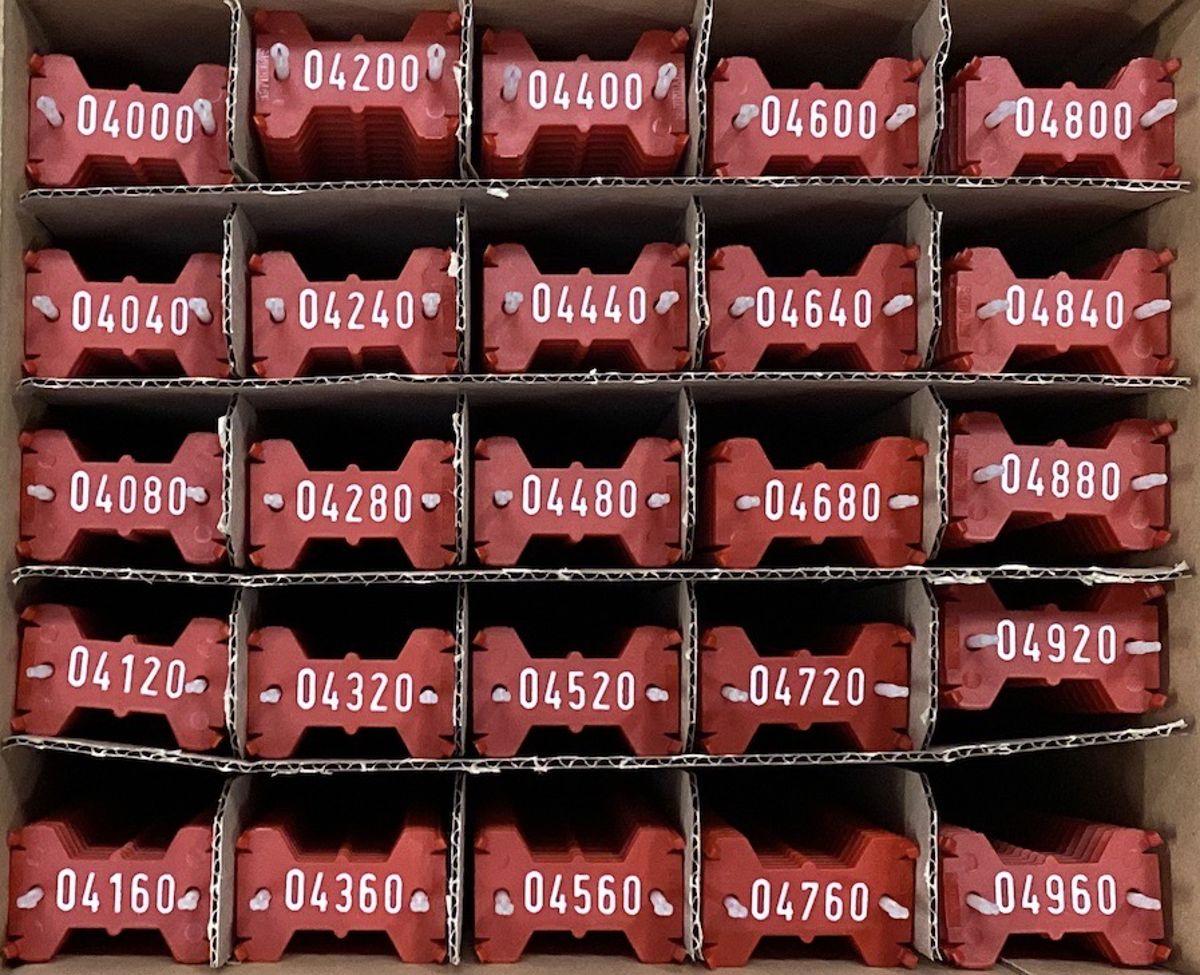 Signumat plaatjes rood wit 4000-4999