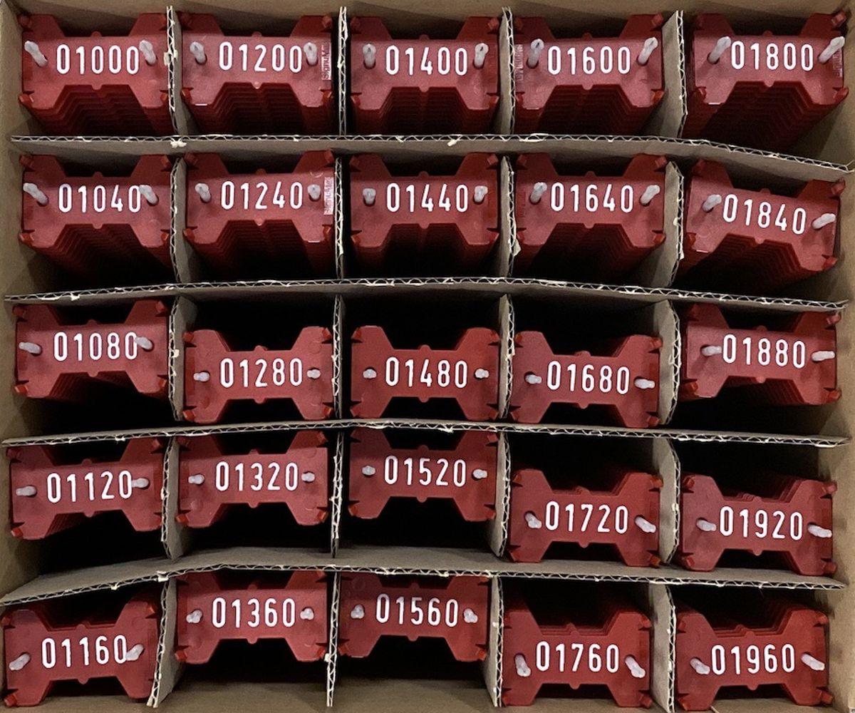 Signumat plaatjes rood wit 1000-1999