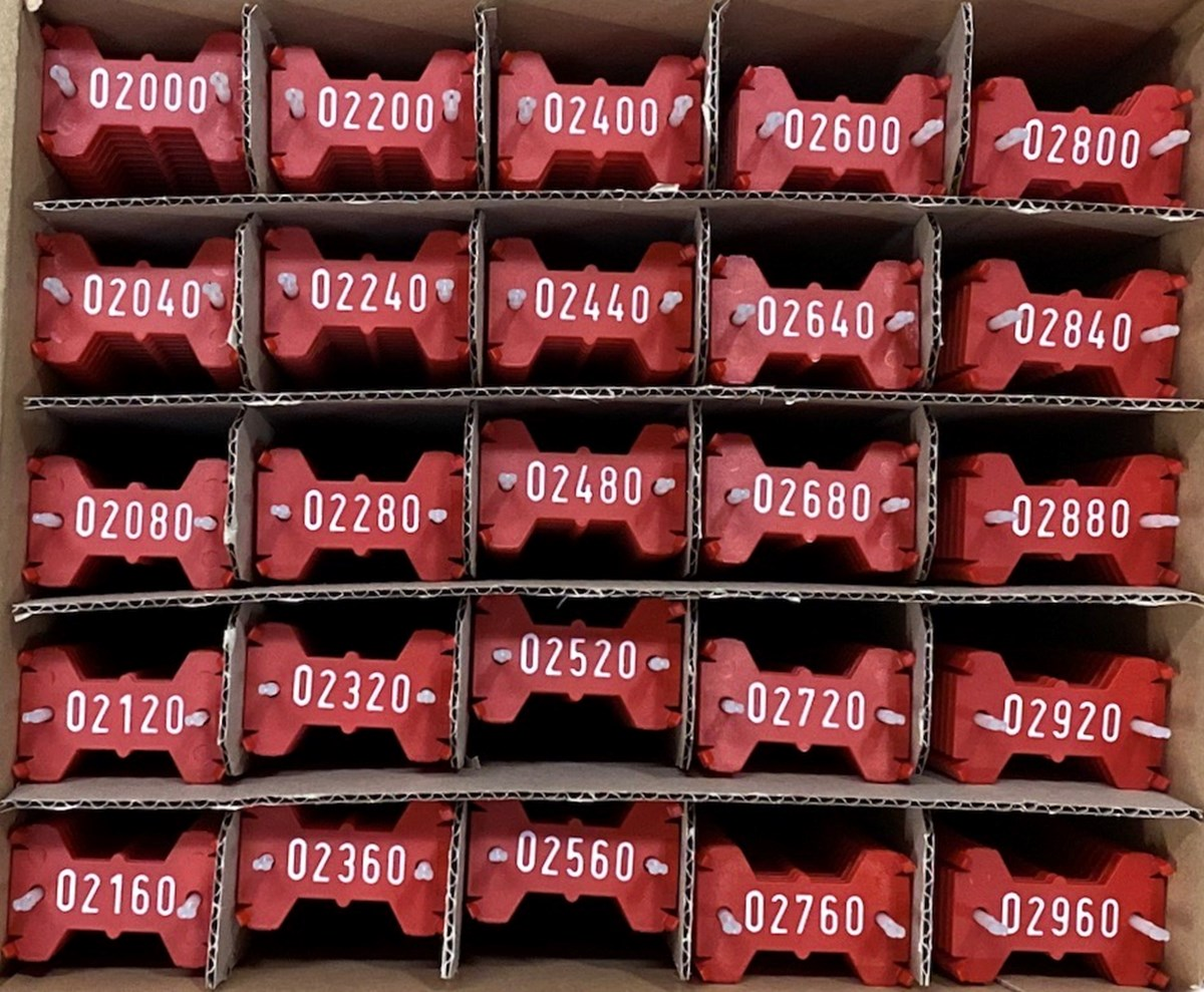 Signumat plaatjes rood wit 2000-2999