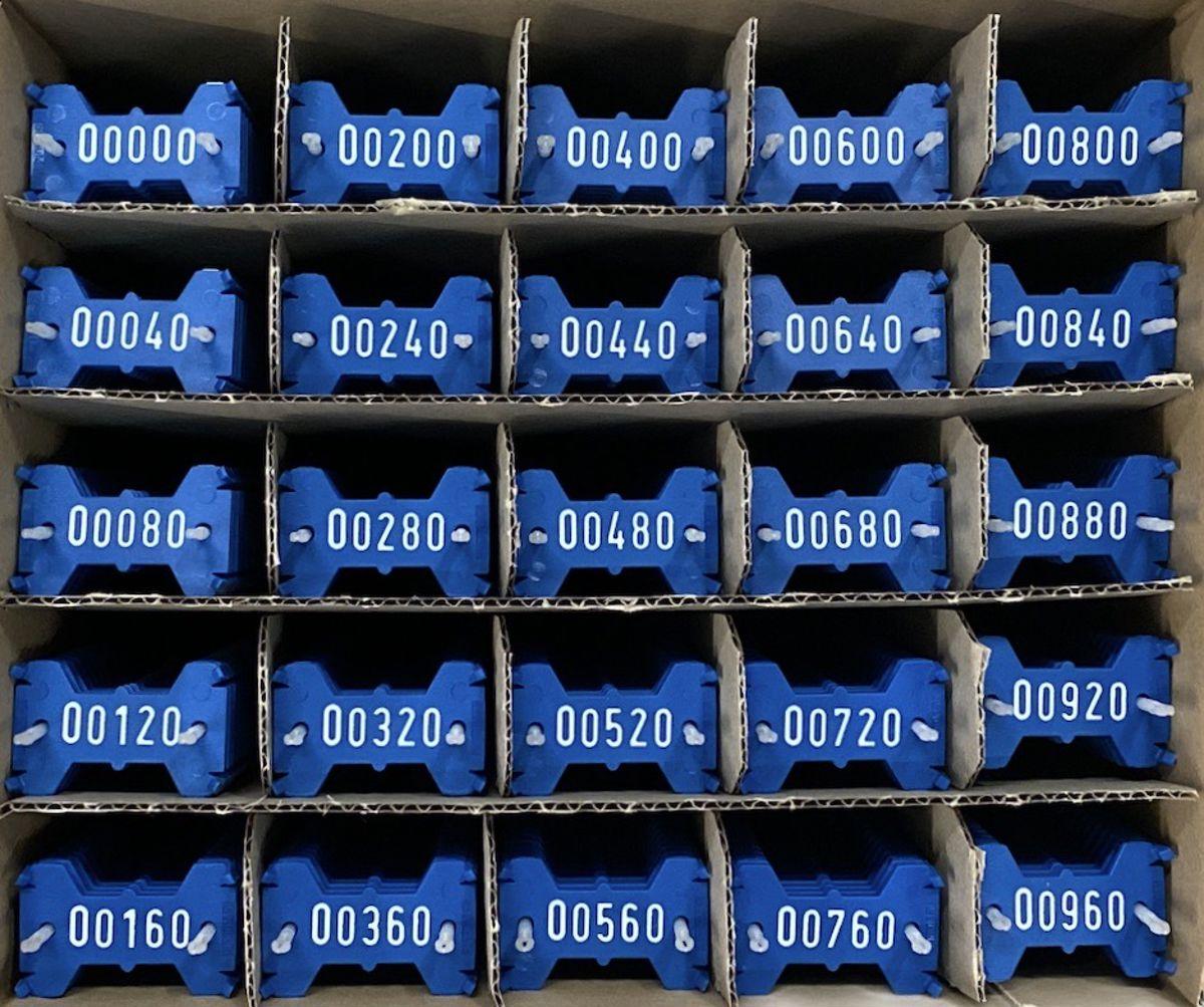 Signumat plaatjes blauw wit 0-999