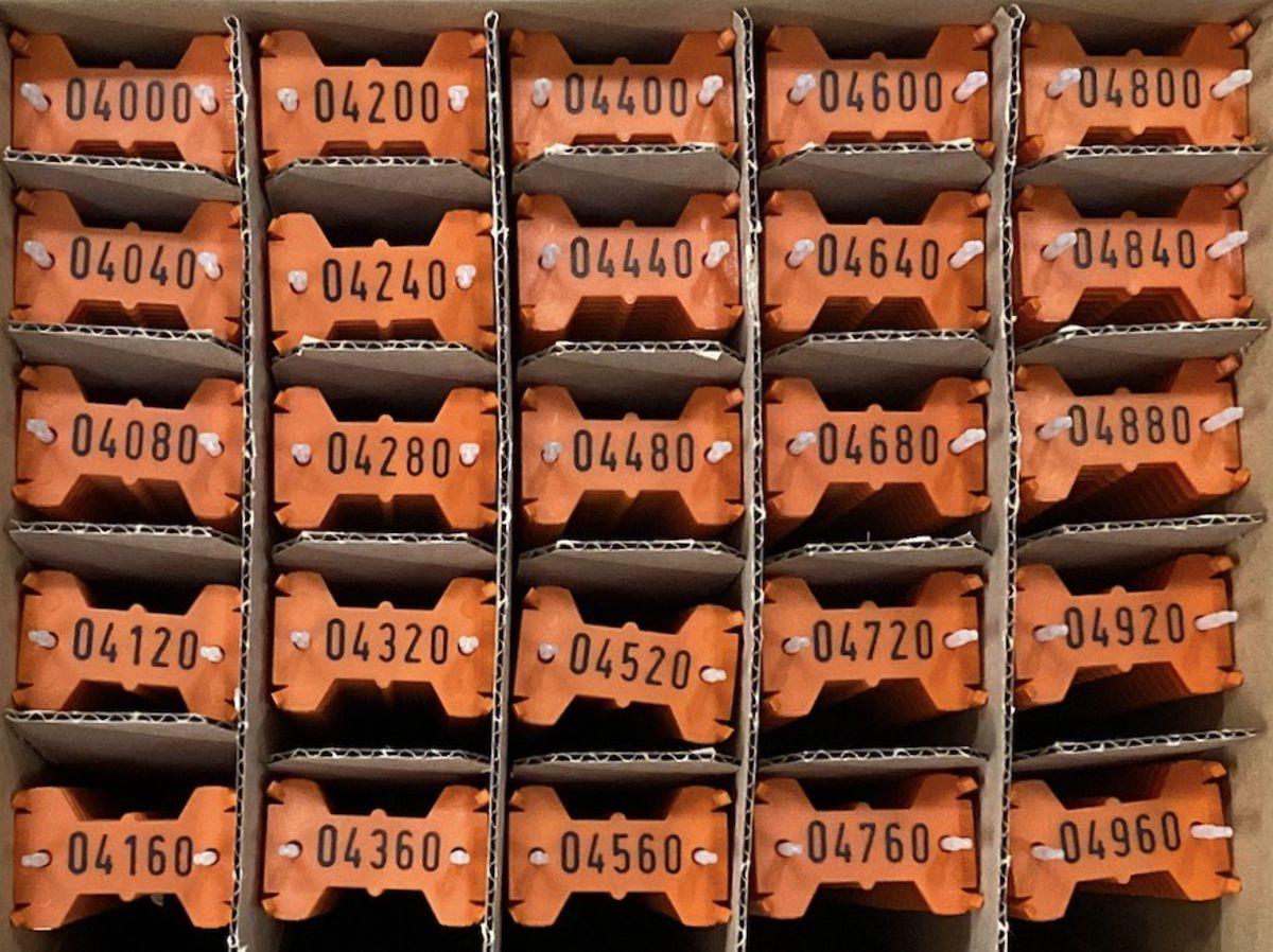 Signumat plaatjes oranje zwart 4000-4999