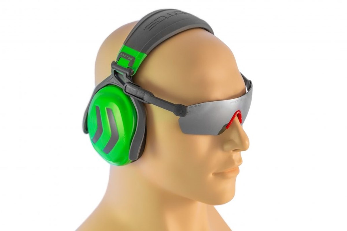 Protos integral hoofdband met gehoorbes.